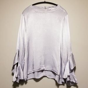 H by Halston Flutter Sleeves Top